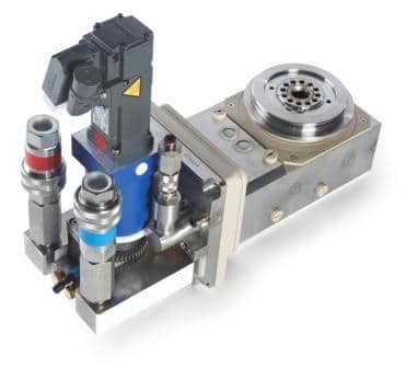 Sputter equipment: compact end block